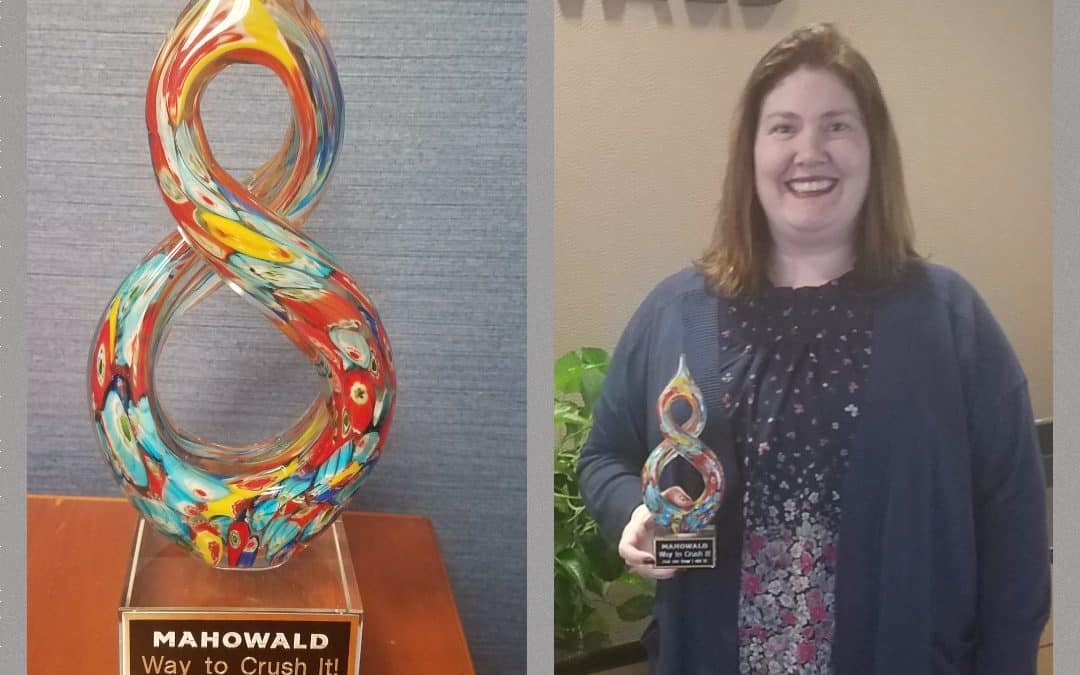 Jill Phillipp receives 2019 Q2 Crushing It Award