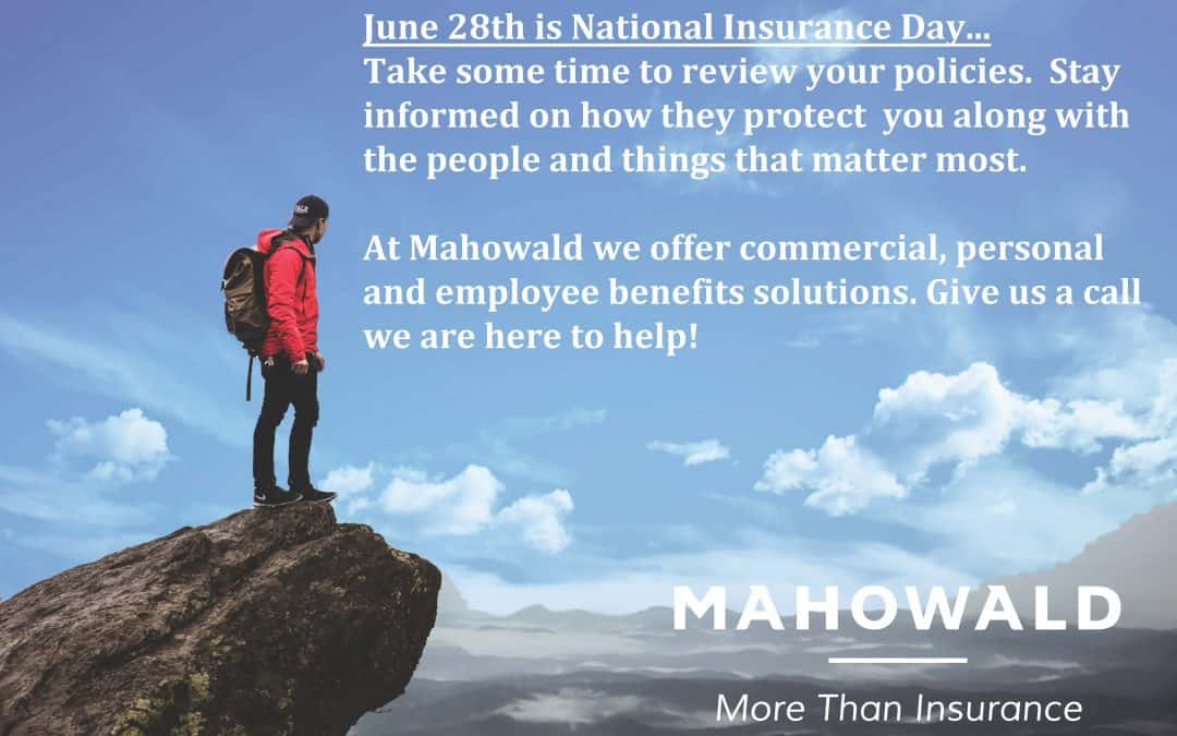 June 28th- National Insurance Day!