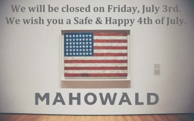 We will be closed on Friday, July 3rd